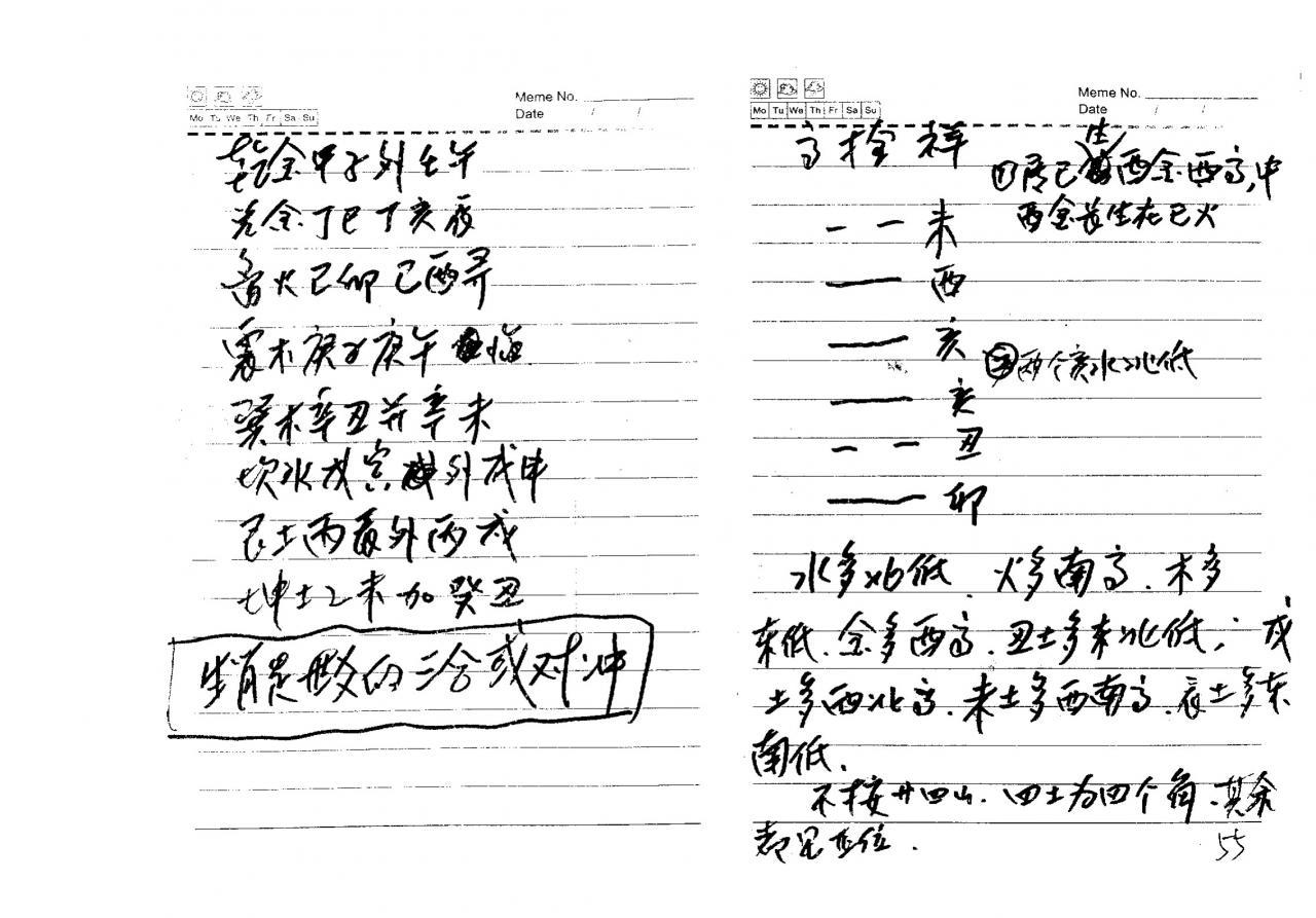 高栓祥2011、2018弟子班阳宅八卦风水笔记面授讲义